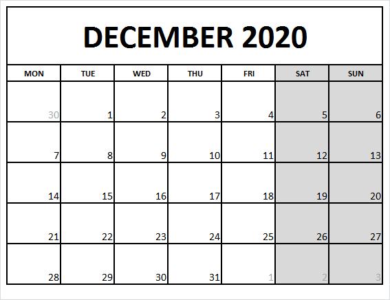 Blank Calendar