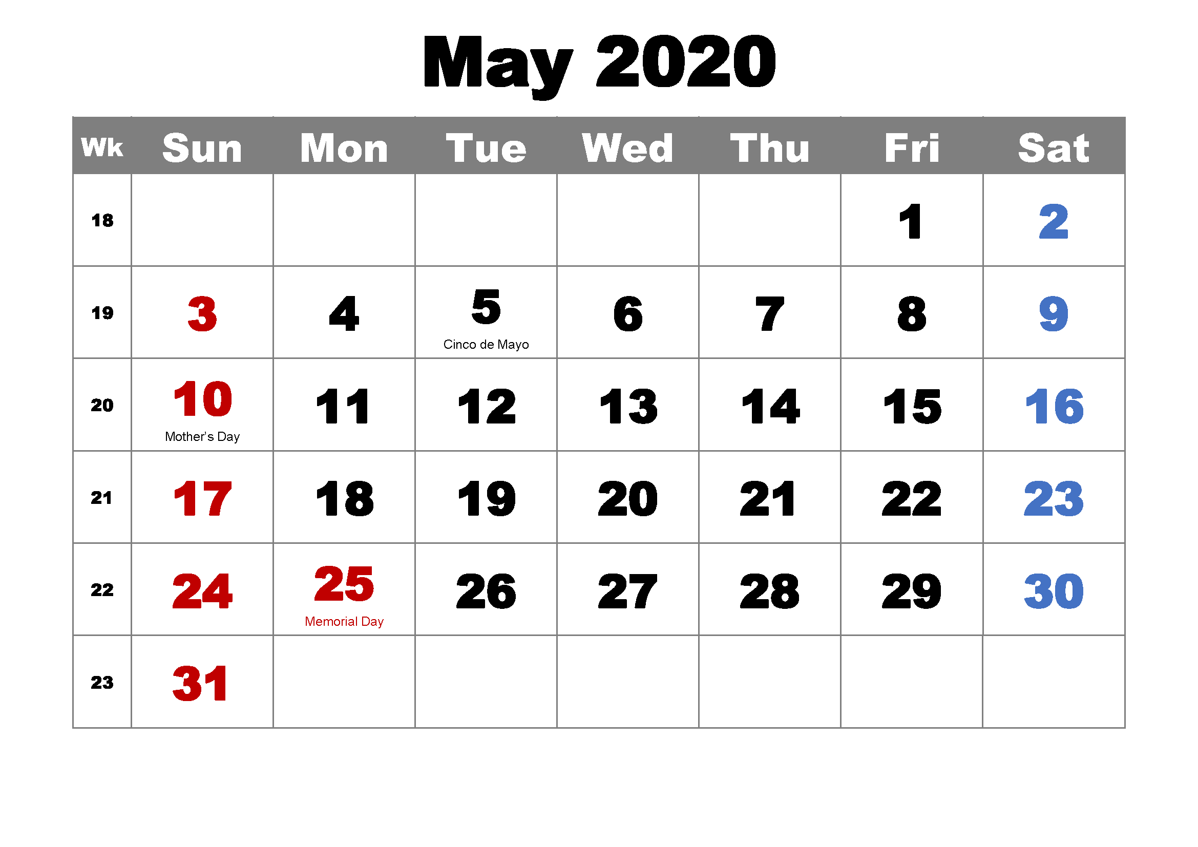 Calendar Blank