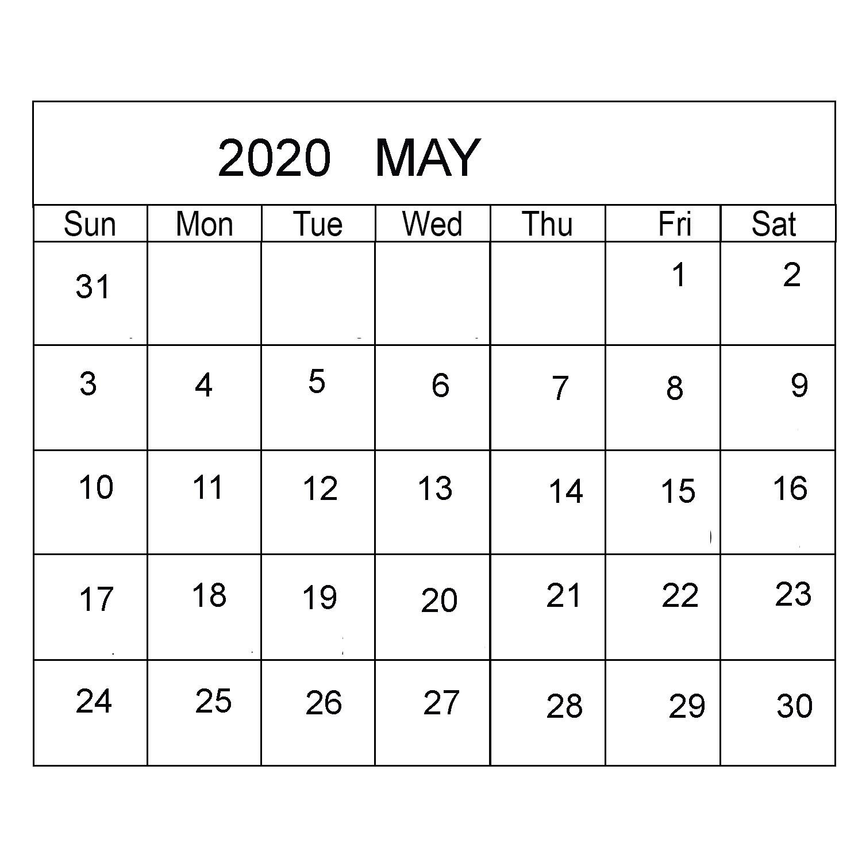 2020 Blank Calendar