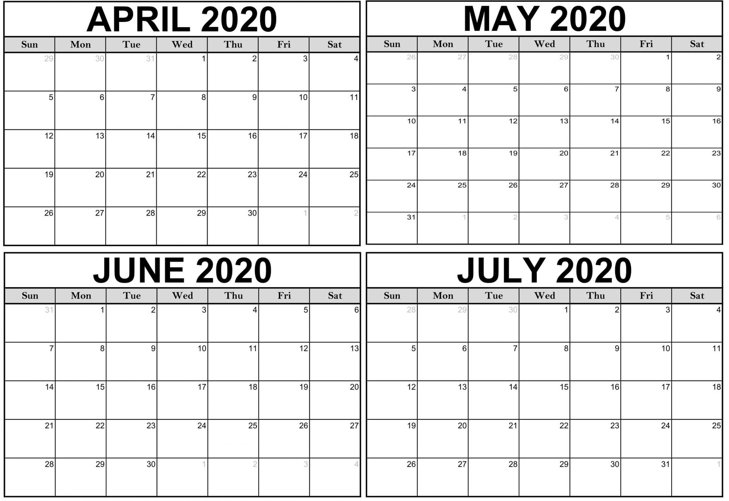 Free Printable Calendar