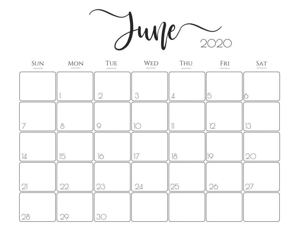 2020 Printable Calendar