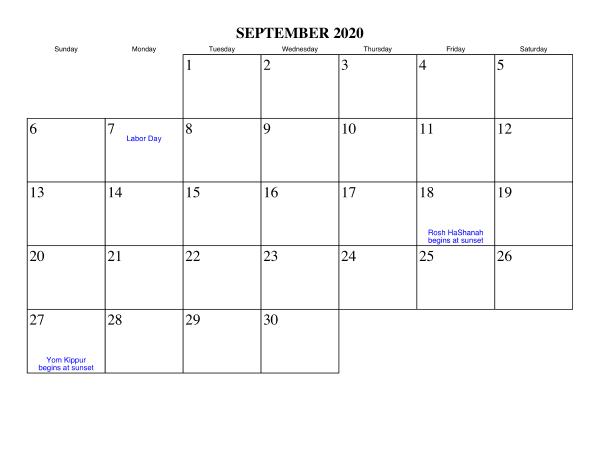 Calendar Printable