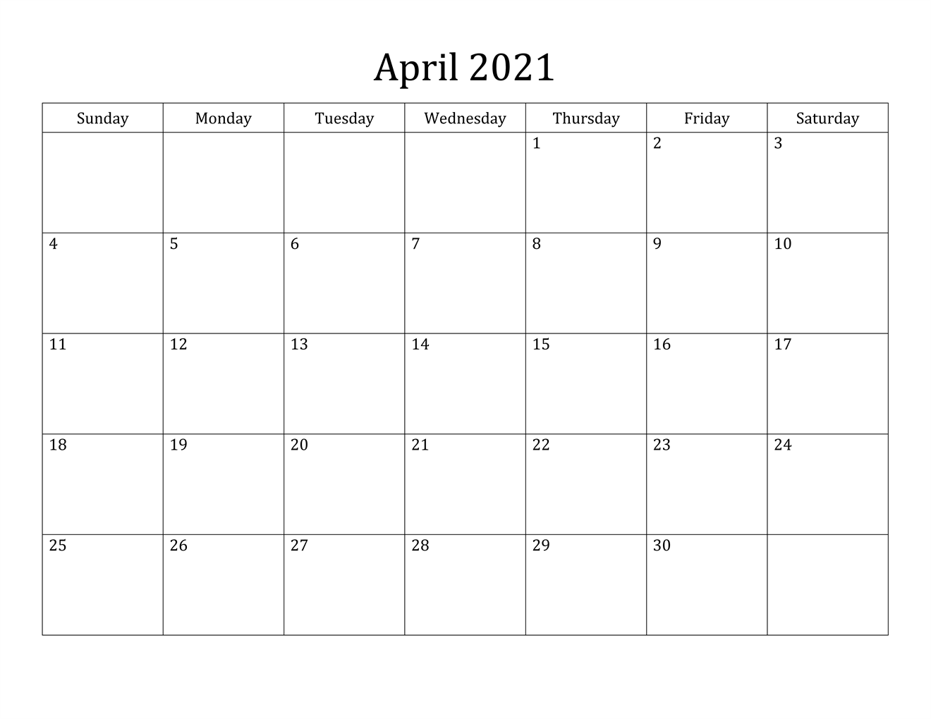 15 Best Free Printable April 2021 Calendar Template - Free ...