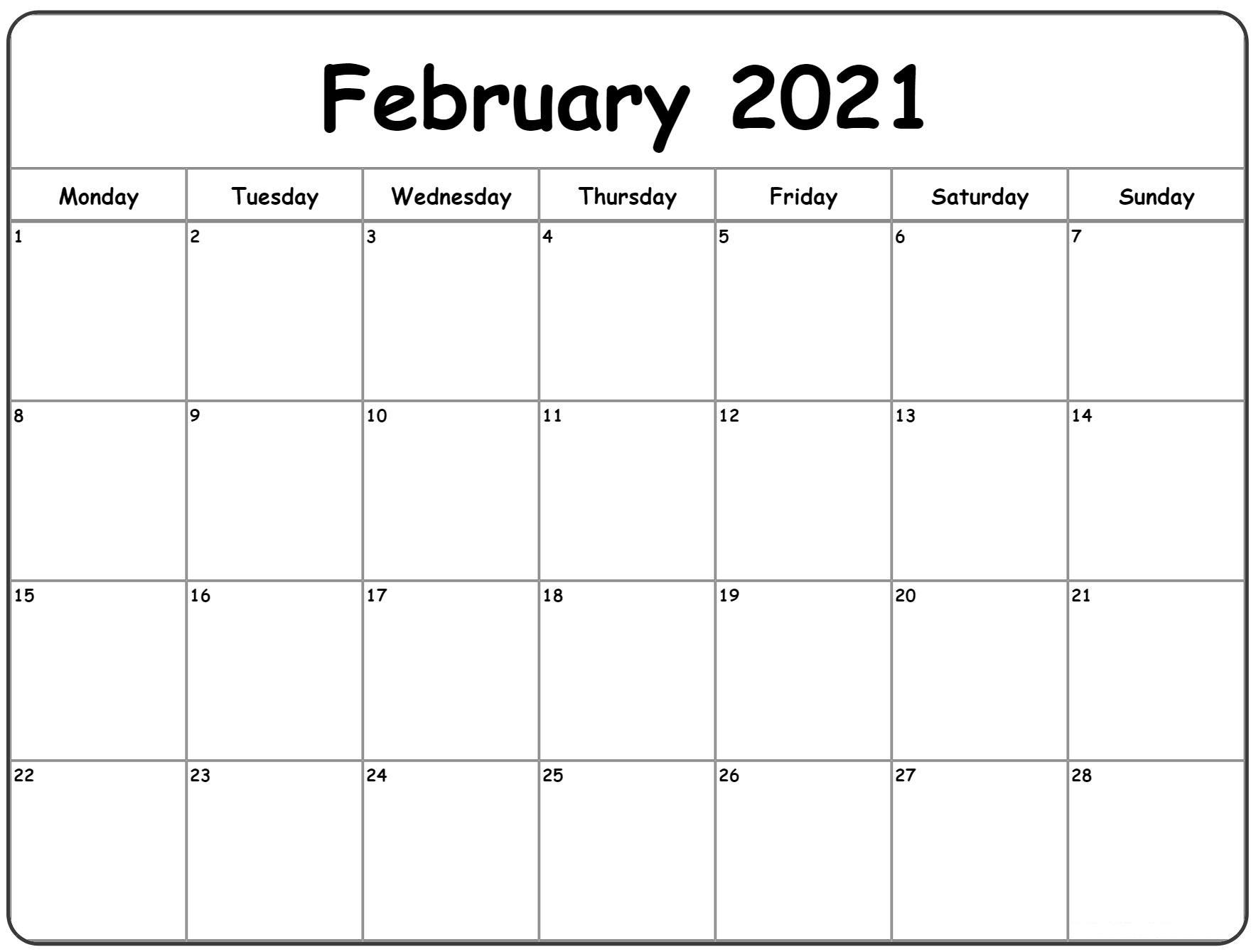 February 2021 Calendar Kalnirnay