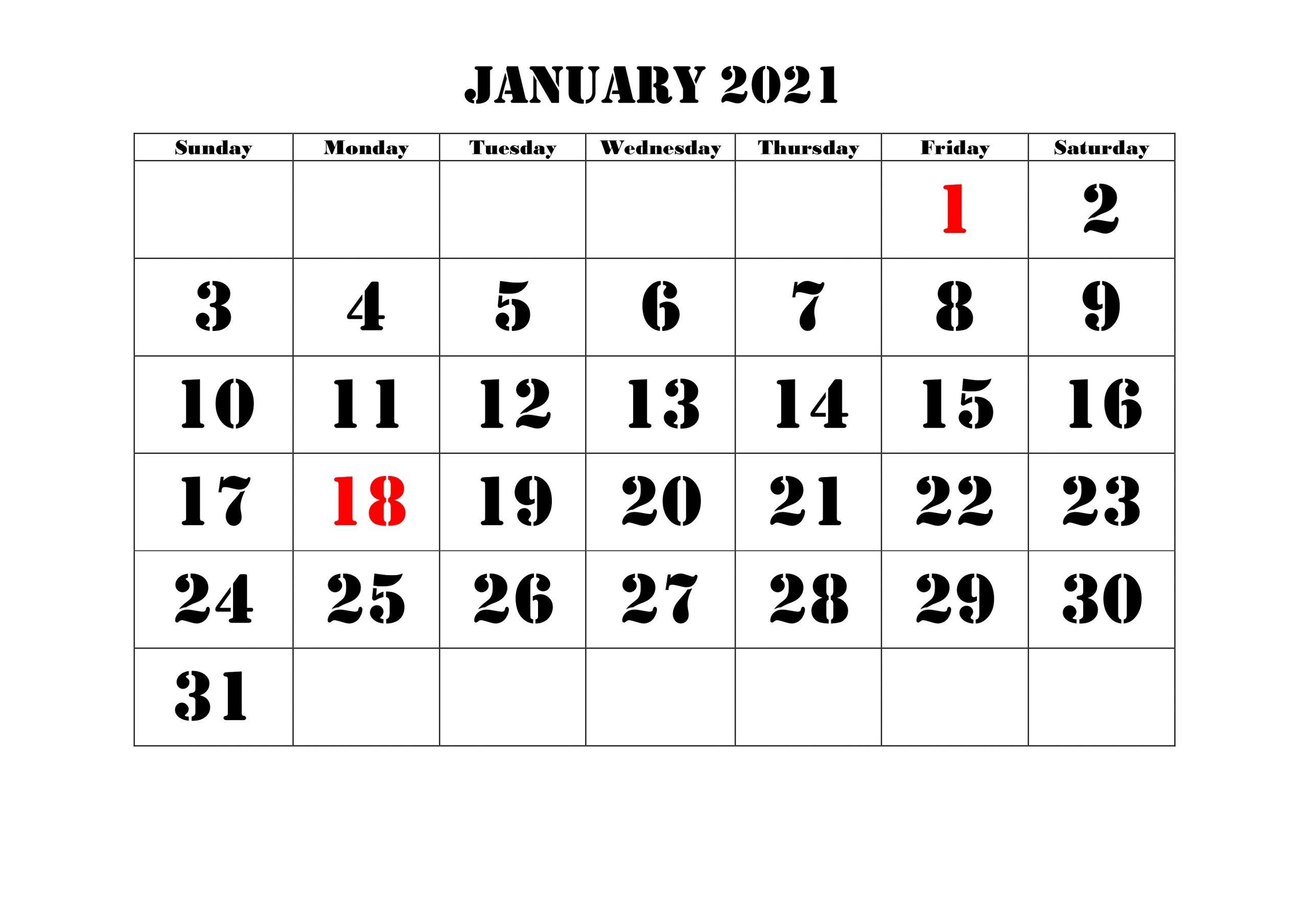 January 2021 Calendar Urdu