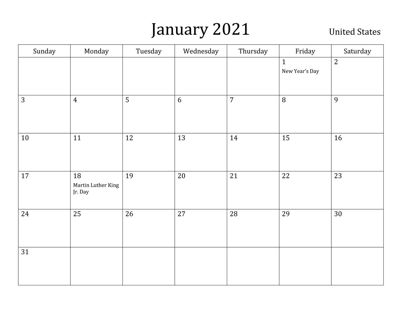 January 2021 Tamil Calendar