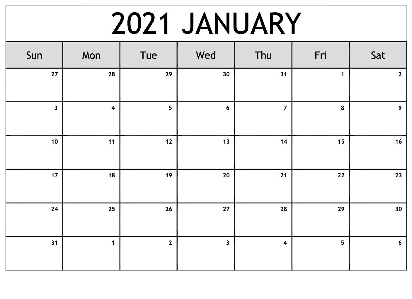 January 2021 Telugu Calendar