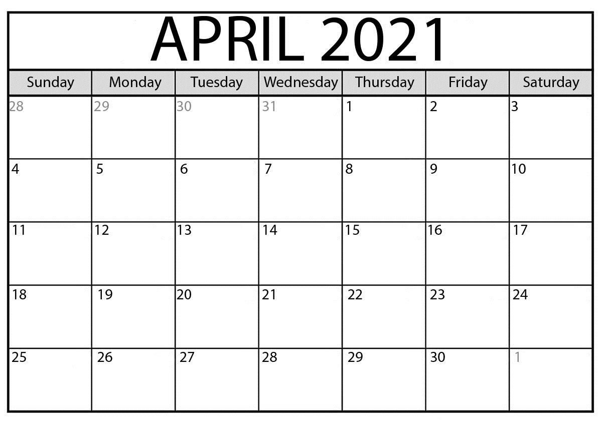 Quote April 2021 Calendar