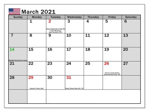 Blank February 2021 Calendar Editable