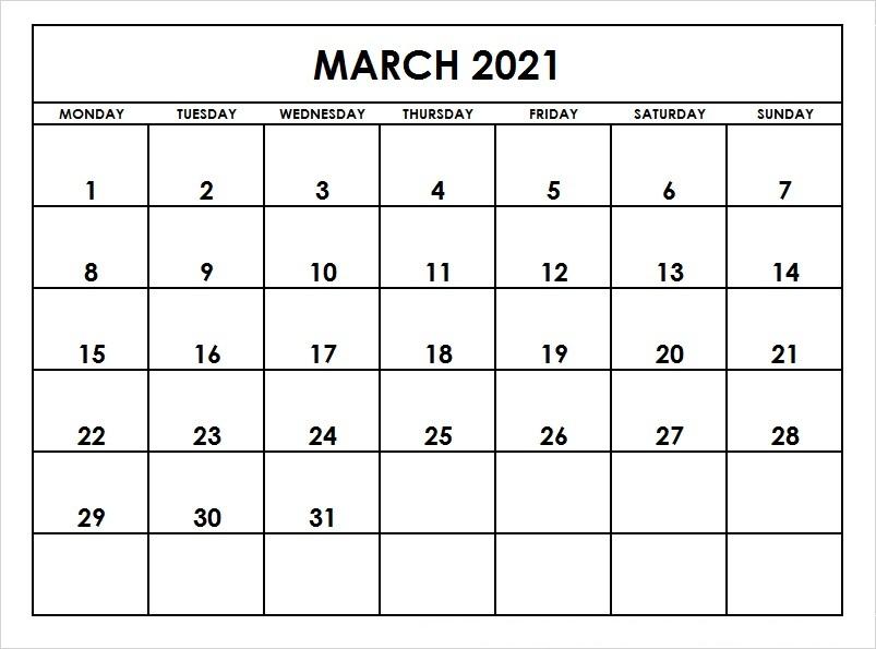 March 2021 Calendar Printable (2)