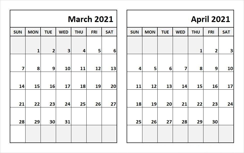 March 2021 Calendar Printable Word