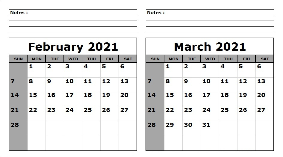 March 2021 Calendar Template With Holidays