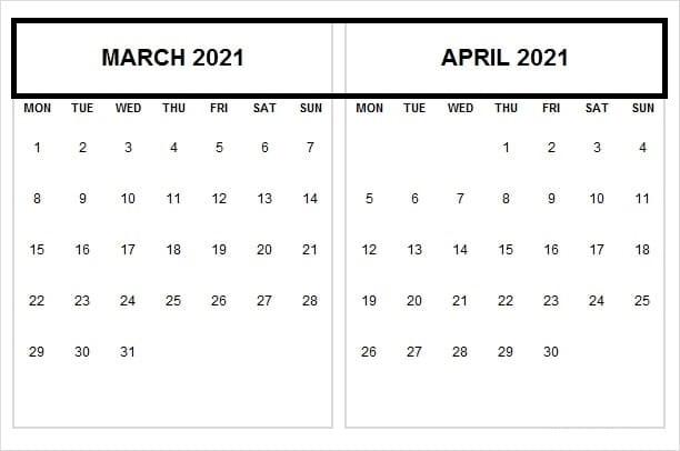 April 2021 Calendar With Africa Holidays