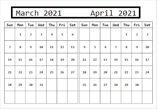 April 2021 Calendar With Bank Holidays