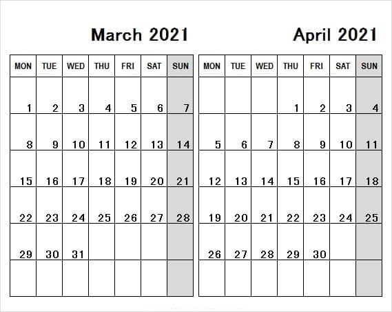 April 2021 Calendar With China Holidays