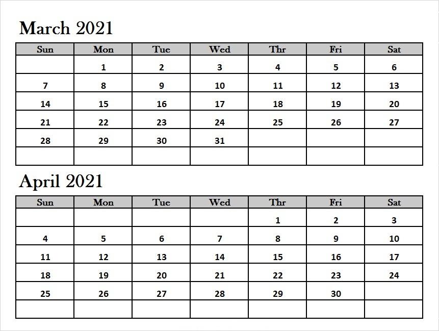 April 2021 Calendar With Holidays & Notes