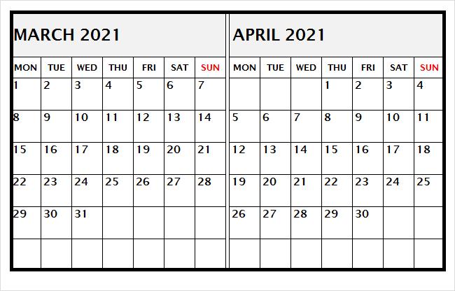 April 2021 Calendar With Indian Holidays