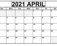 April 2021 Cute Calendar Template
