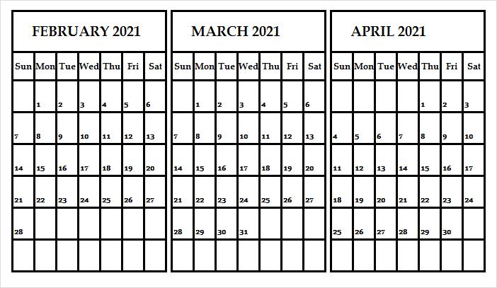 April 2021 Desktop Calendar Template