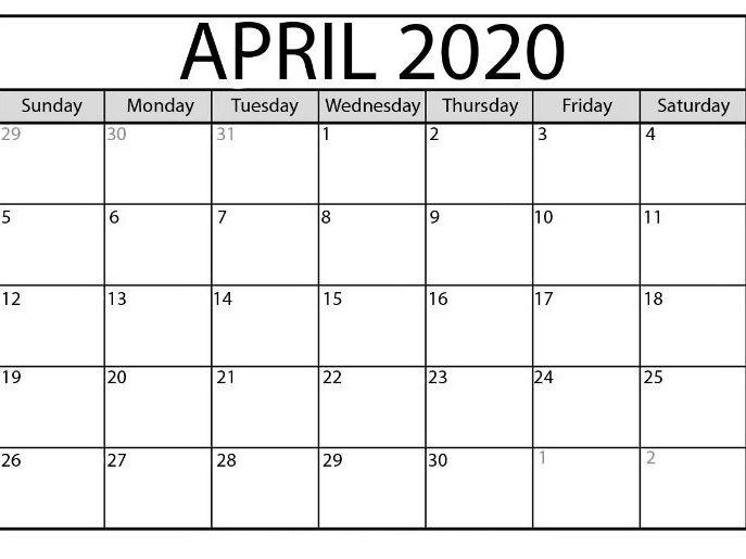 April 2021 Printable Calendar For Offices