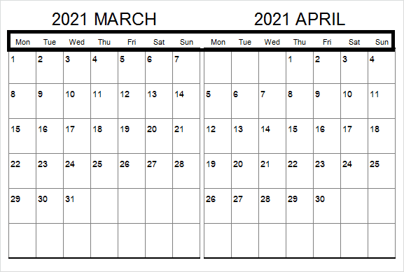 April 2021 Printable Calendar Newzeland