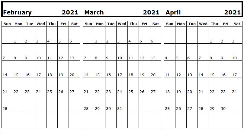 Calendar February 2021 Printable Pretty
