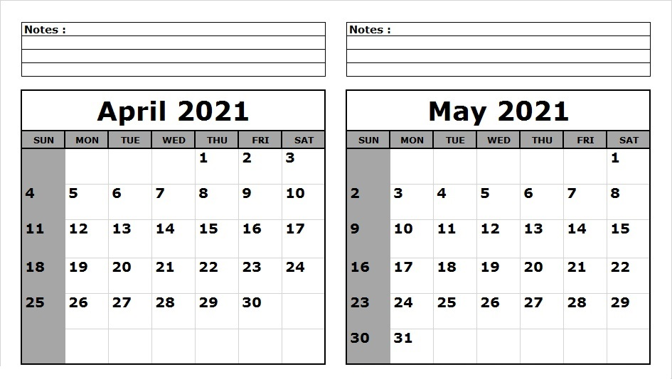 May 2021 Blank Calendar With Holidays