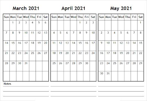 May 2021 Calendar Printable Waterproof