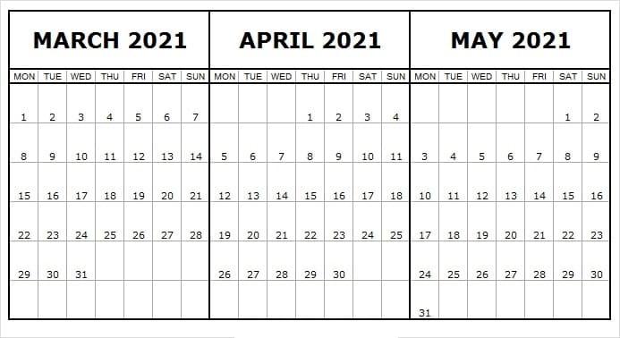 May 2021 Calendar Printable Wiki