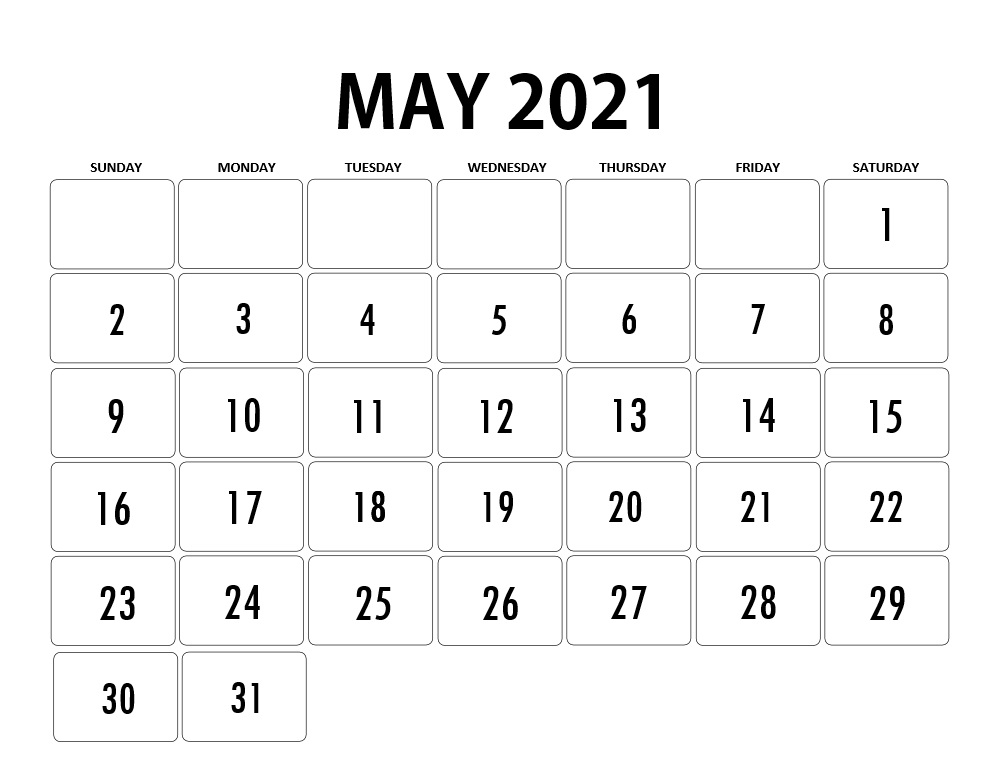 May 2021 Calendar with Holidays Canada