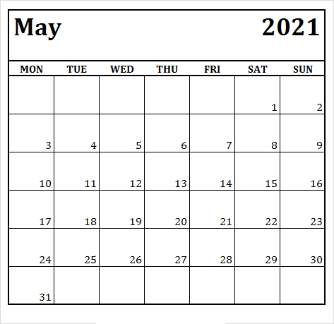 May 2021 Calendar with Holidays Malaysia