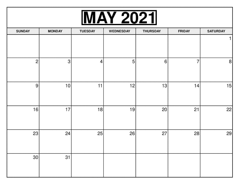 May 2021 Calendar with USA Holidays