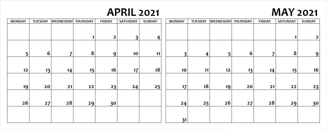 May 2021 Cute Blank Calendar