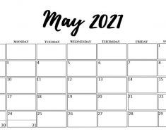 May 2021 Cute Calendar Template