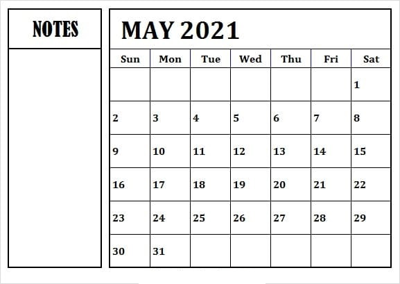 May 2021 Hindu Calendar in Hindi