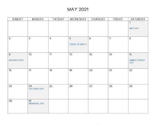 May 2021 Telugu Calendar Chicago