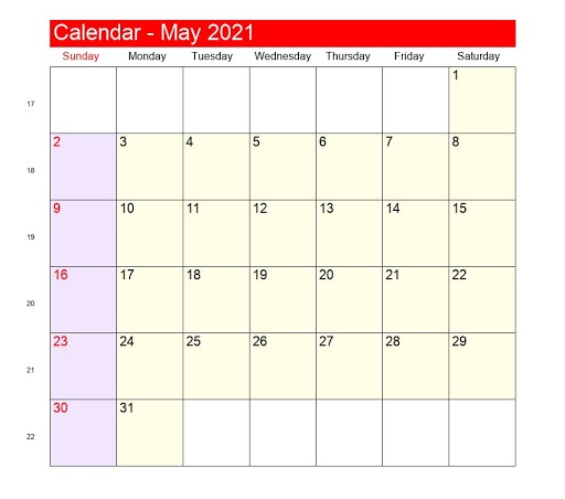May 2021 Telugu Calendar USA