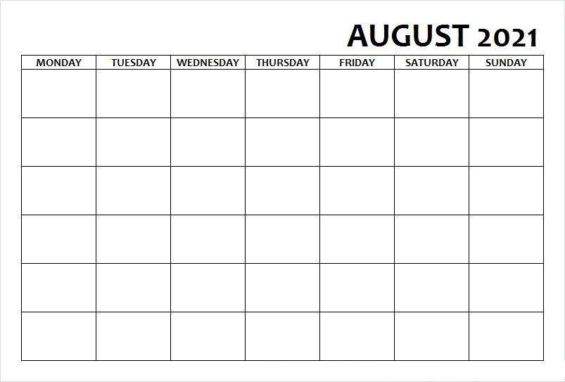 2021 August Calendar Festival