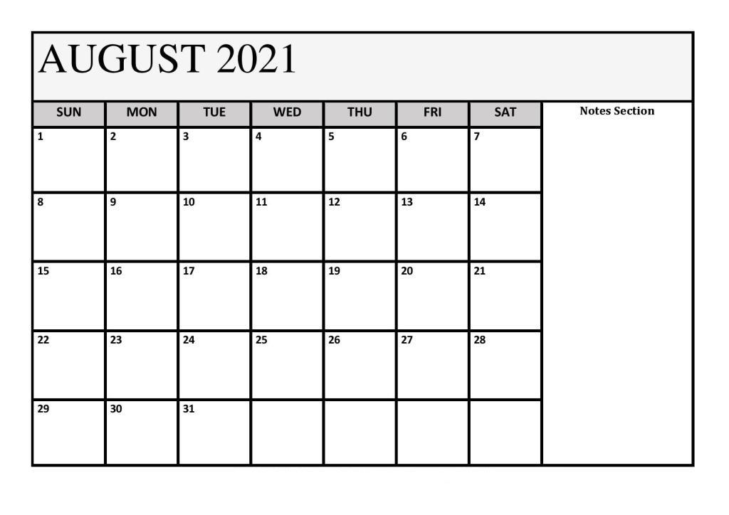 2021 August Calendar Malayalam