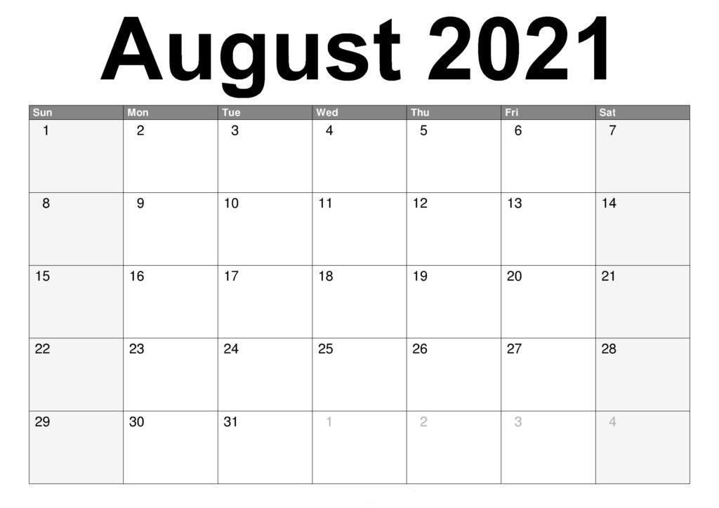 2021 August Calendar Telugu