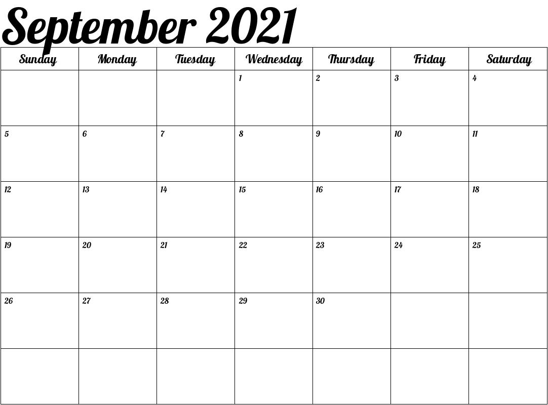 2021 Calendar Tamil September