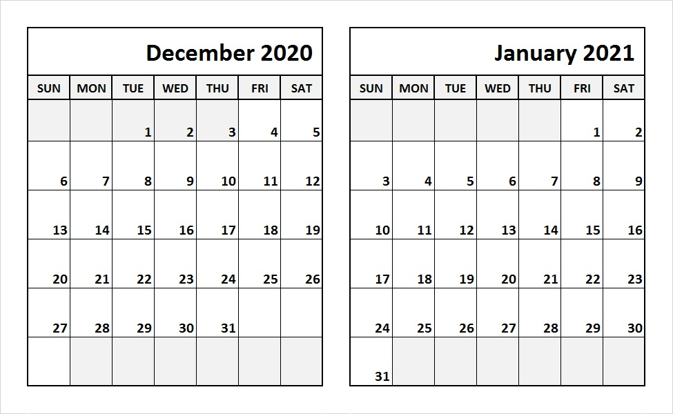 2021 December Calendar With Holidays