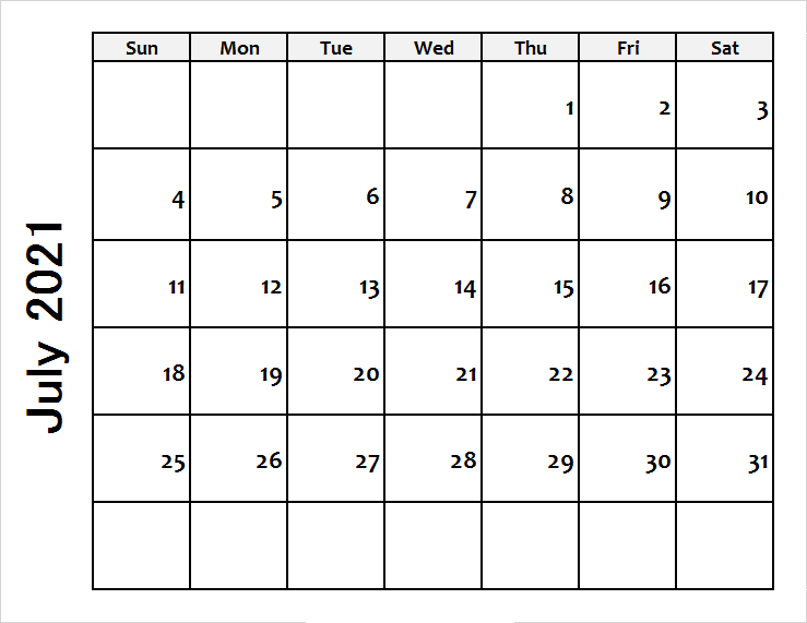 2021 July Calendar Telugu