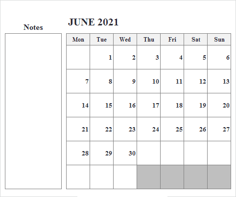 2021 June Calendar Malayalam