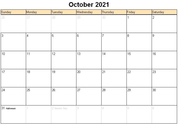 2021 October Calendar Malayalam