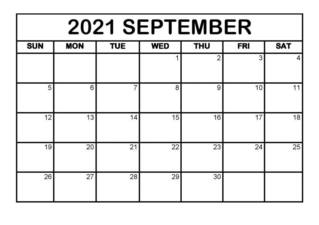 2021 September Calendar Marathi