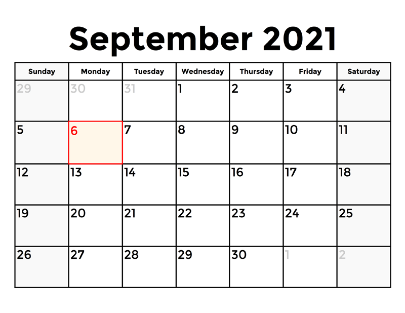 2021 September Calendar With Holidays India