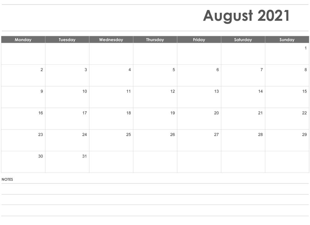 August 2021 Calendar Malayalam