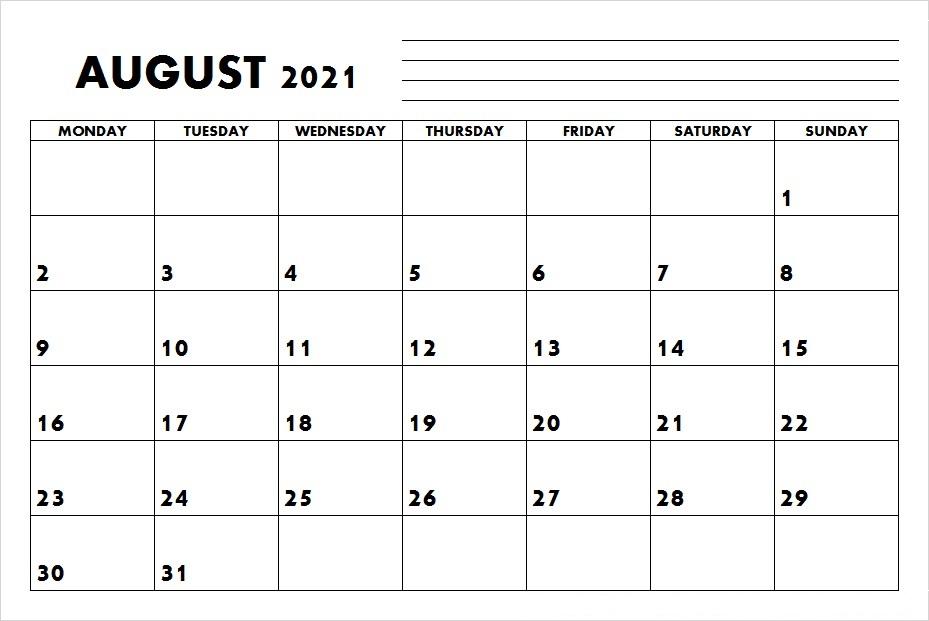 August 2021 Calendar With Holidays Brazil