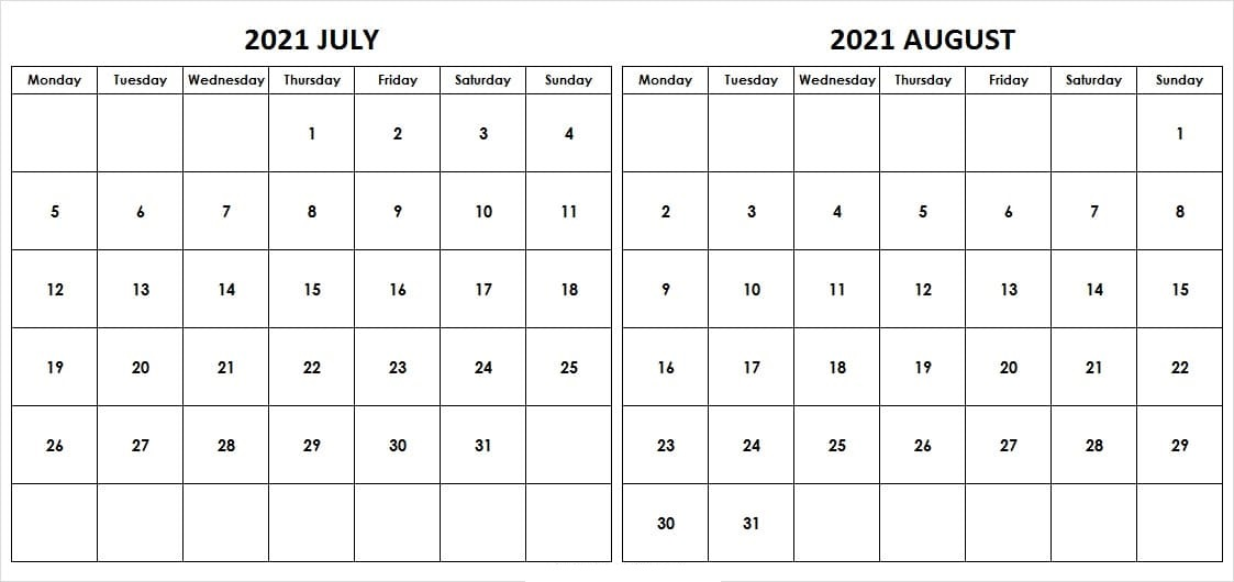 August 2021 Calendar With Holidays Philippines